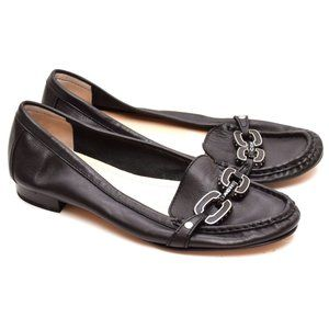 Coach Flats Loafers Womens 8.5 Black Ellla Leather